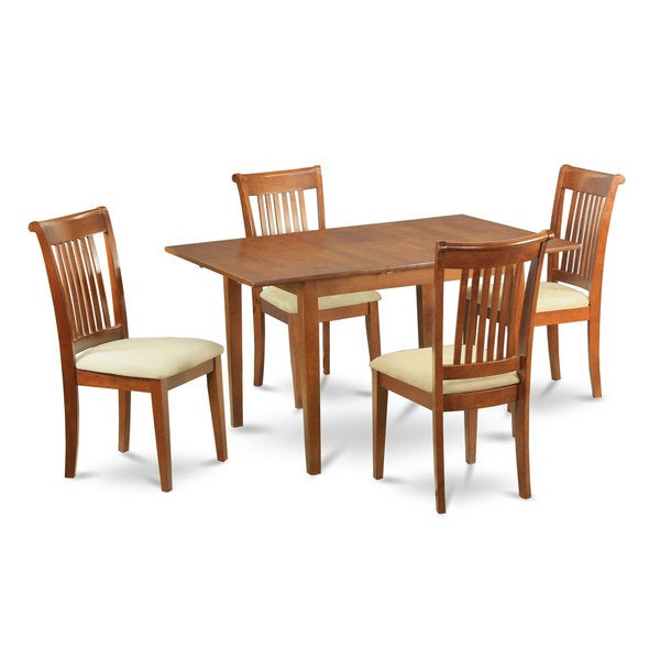 5 piece dinette set small dining table and 4 chairs for Small dinette sets