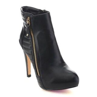 DE BLOSSOM COLLECTION CARMEN-6 Women's Side Zip Ankle Booties