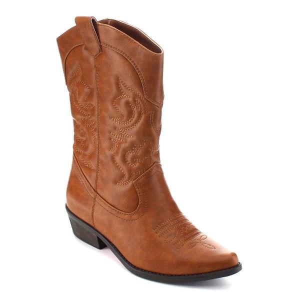 shop de blossom collection jamee-1 women u0026 39 s mid-calf western style cowboy boots