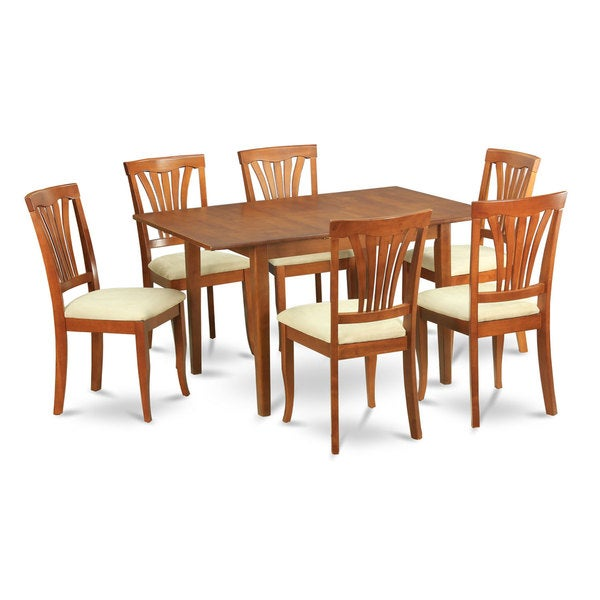 7 piece dinette set for small spaces small kitchen table and 6 kitchen chairs free shipping - Small space dinette sets set ...