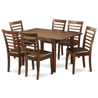 7-piece Kitchen Nook Dining set-Breakfast Nook and 6 Dining Chairs in Mahogany