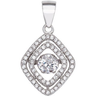Kele & Co Floating Cubic Zirconia Pendant