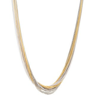 Kele & Co Tri-tone Multi Layered Chain Necklace