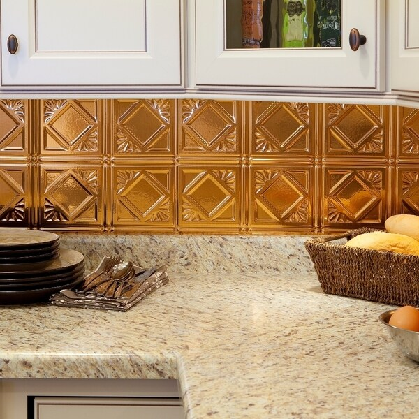 Kitchen Backsplash Kit: Shop Fasade Traditional Style #4 Backsplash In Polished