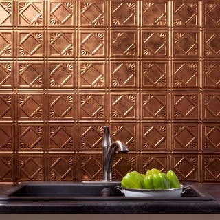 Fasade Traditional Style #4 Backsplash in Antique Bronze 18-square-foot Kit|https://ak1.ostkcdn.com/images/products/10319901/P17431113.jpg?impolicy=medium