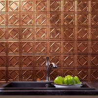 Fasade Traditional Style #4 Backsplash in Antique Bronze 18-square-foot Kit