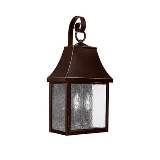 Capital Lighting Collins Hill Collection 2-light New Bronze Outdoor Wall Lantern