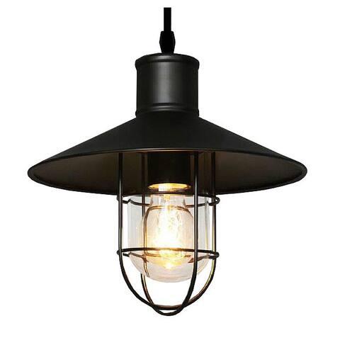 Bess Adjustable Cord 1-light Black Edison Pendant