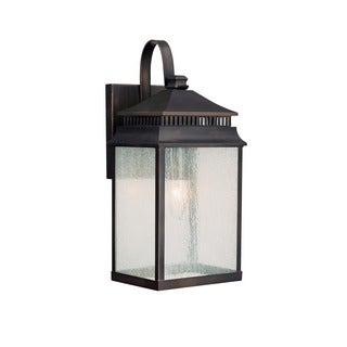 Capital Lighting Sutter Creek Collection 1-light Old Bronze Outdoor Wall Lantern