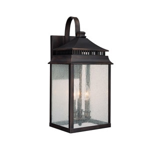 Capital Lighting Sutter Creek Collection 3-light Old Bronze Outdoor Wall Lantern
