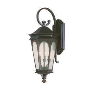 Capital Lighting Inman Park Collection 3-light Old Bronze Outdoor Wall Lantern