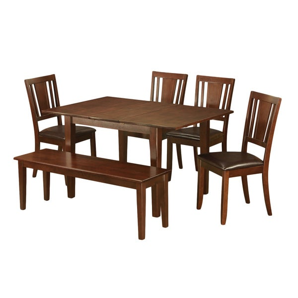6 Piece Kitchen Nook Dining Set Breakfast Nook And 4 Dining Chairs And  Dining