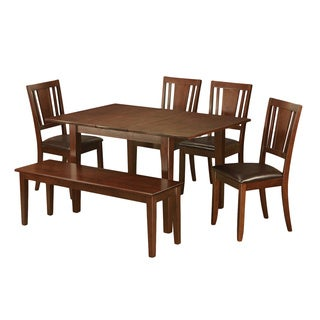 6-piece Kitchen Nook Dining Set-Breakfast Nook and 4 Dining Chairs and Bench