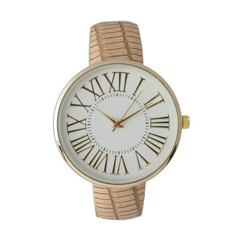 Olivia Pratt Women's Elegant Croc Embossed Watch