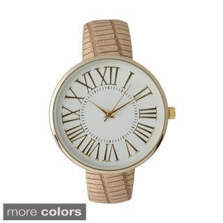 Olivia Pratt Women's Elegant Croc Embossed Watch