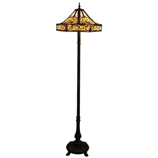 Zuri 18-inch Ivory Tiffany-style Floor Lamp