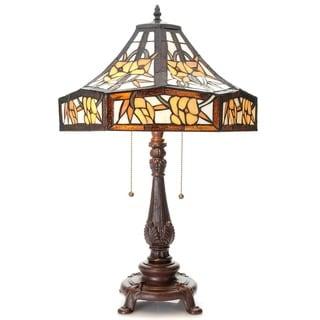 Zalika 16-inch Ivory Tiffany-style Table Lamp