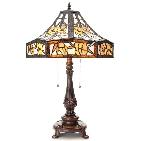 zalika 16 inch ivory tiffany style table lamp free shipping today. Black Bedroom Furniture Sets. Home Design Ideas