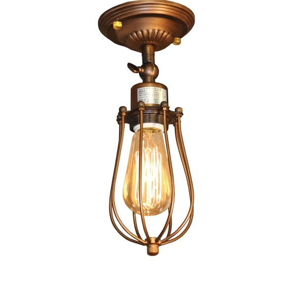 frances 1light antique 5inch edison wall lamp with bulb