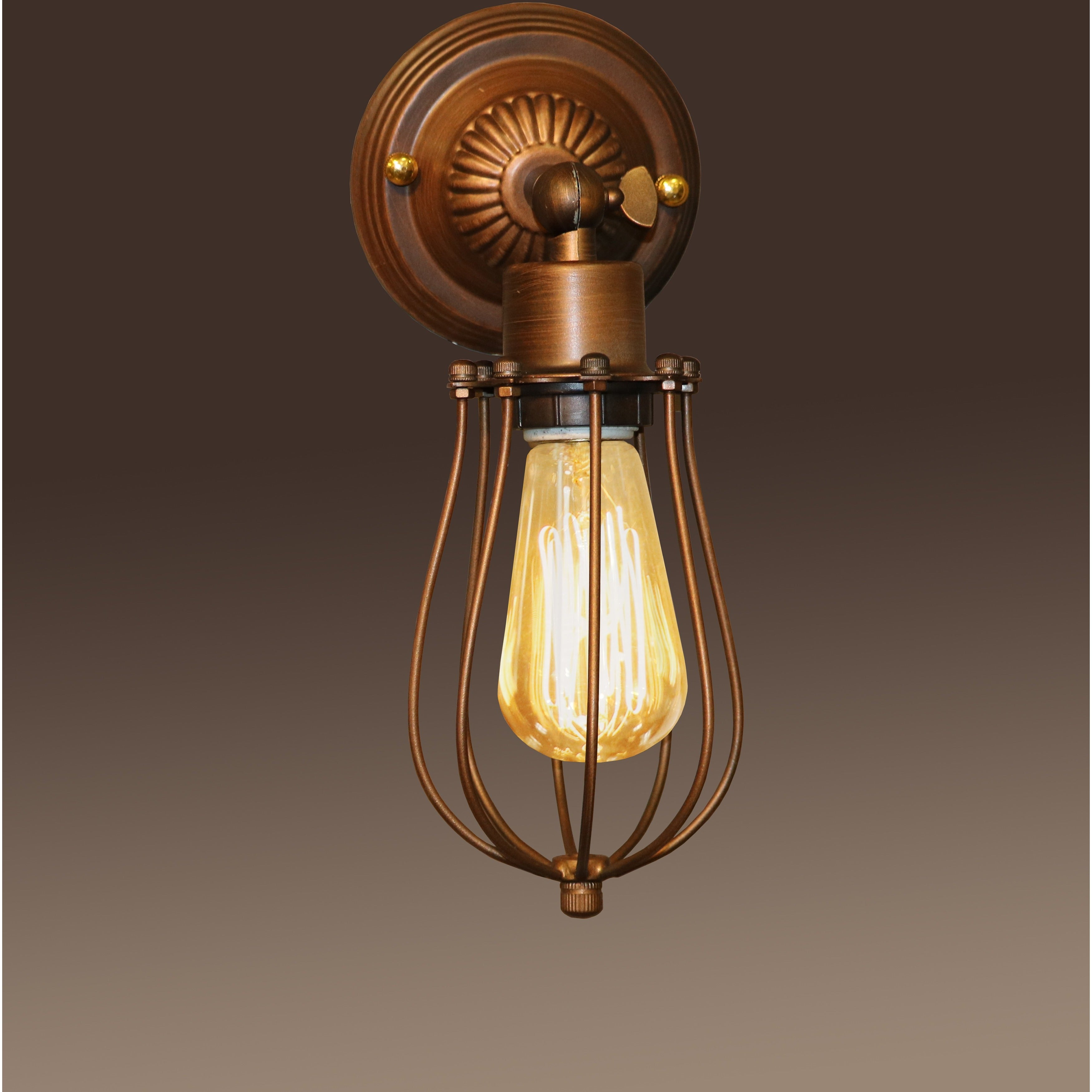 Frances 1 Light Antique 5 Inch Edison Wall Lamp With Bulb On Sale Overstock 10319952