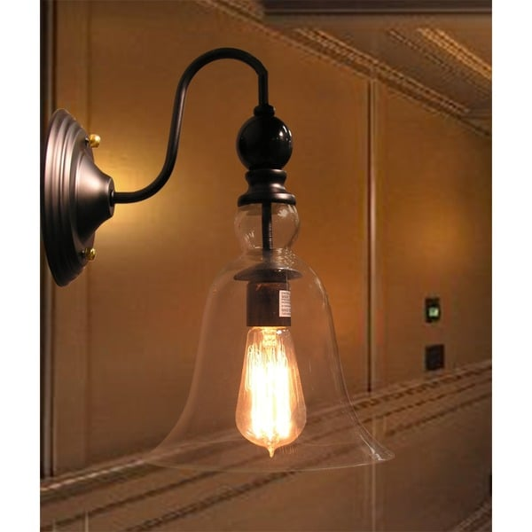 Shop Mildred 1-light Clear Glass Edison Wall Lamp with Bulb - On ...