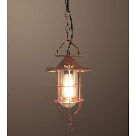 Clarissa 1-light Rusty-style 9-inch Edison Pendant