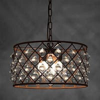Hattie 3-light Rusty Steel 16-inch Edison Chandelier