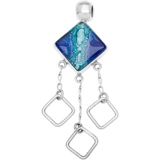 Kele & Co Dichroic Glass Pendant set in .925 Sterling Silver