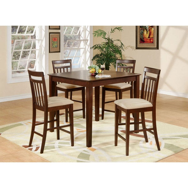 5 Piece Counter Height Table Set Square Counter Height