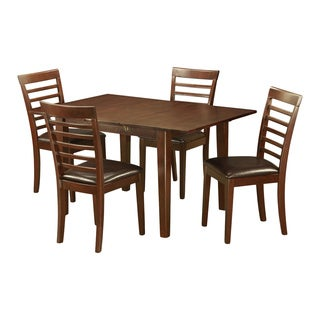 5-Piece Kitchen Nook Dining Set in Mahogany