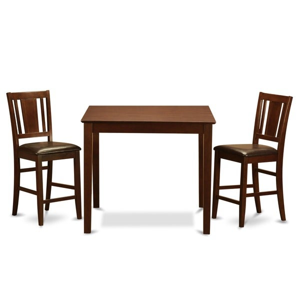 Counter Height Gathering Table Sets : piece Gathering Table Set-Table and 2 Counter Height Chairs - Free ...