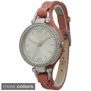 Olivia Pratt Women's Skinny Band Rhinestone Watch