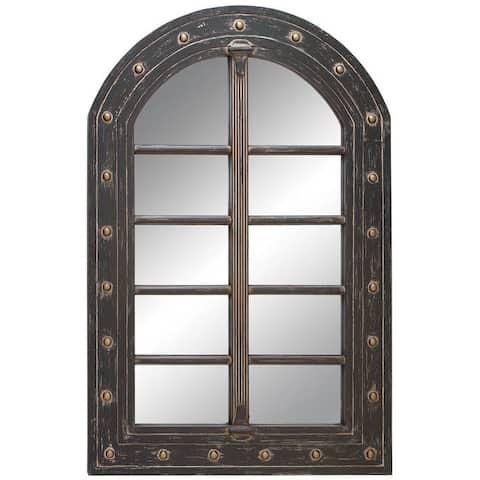 Arched Window Pane Wall Mirror - 32 x 48
