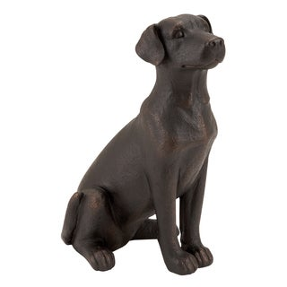 Retriever Dog Sitting Sculpture