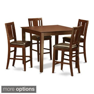 5-piece Gathering Table Set-Dinette Table and 4 Counter Height Chairs
