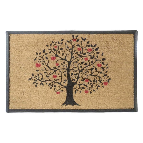 First Impression Rubber And Coir Large 30 X 48 Inch Double Doormat With Tree Design