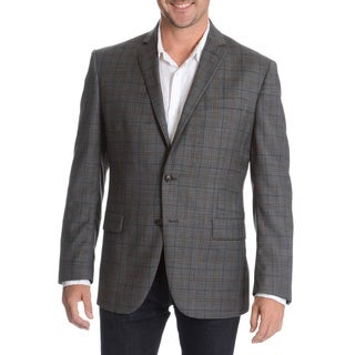 Daniel Hechter Men's Charcoal Fancy Wool Sport Coat
