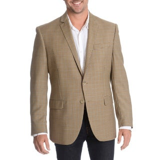 Daniel Hechter Men's Brown Fancy Wool Sport Coat