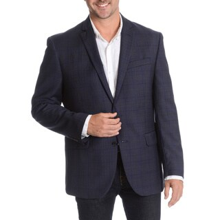 Daniel Hechter Men's Navy Fancy Wool Sport Coat