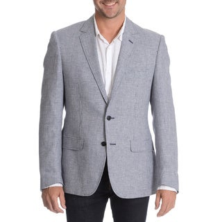 Daniel Hechter Men's Navy Linen Blend Sport Coat