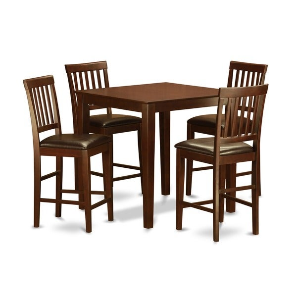 5-piece Counter Height Table Set-Table and 4 Kitchen Chairs  sc 1 st  Overstock.com & 5-piece Counter Height Table Set-Table and 4 Kitchen Chairs - Free ...