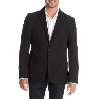 Daniel Hechter Men's Black Slim Fit Packable Jacket with Bag