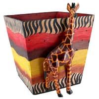 Handmade Jacaranda Giraffe Planter (Kenya) - multi-color/Multi