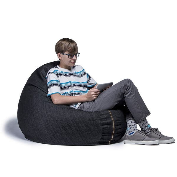 Peachy Shop Jaxx 4 Foot Cocoon Bean Bag Chair With Denim Cover Cjindustries Chair Design For Home Cjindustriesco