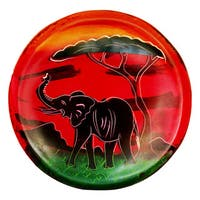 "Handmade African Sunset Soapstone Bowl (Kenya) - 4"" x 4"""