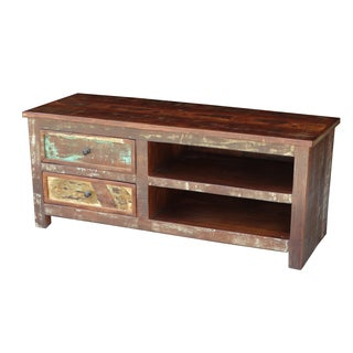 Timbergirl Multicolor Recycled Wood TV Stand