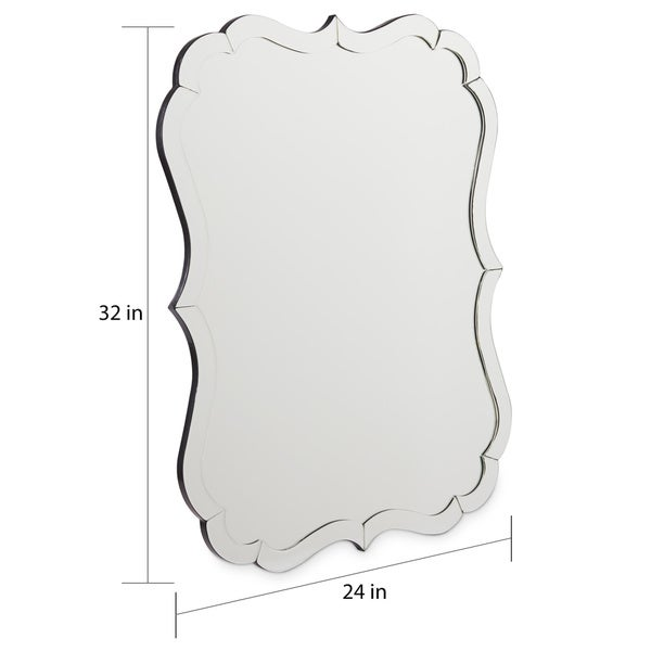 Abbyson Olivia Rectangle Wall Mirror - N/A