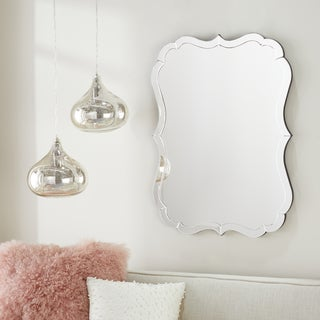 Abbyson Olivia Rectangle Wall Mirror - Silver