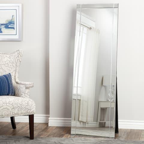 Clarendon Silver Glam Standing Full-Length Floor Mirror