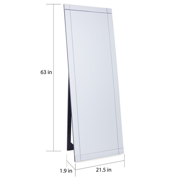 Clarendon Silver Glam Standing Full-Length Floor Mirror